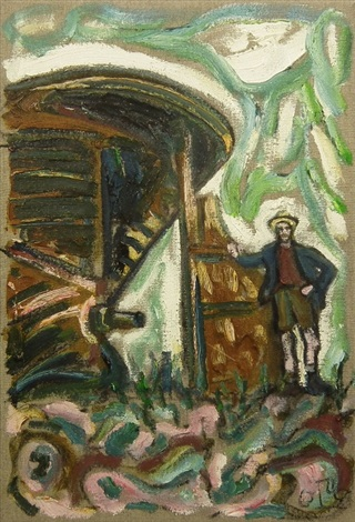wreck on the medway by billy childish