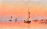 sailboats in the archipelago of ahvenanmaa by erik abrahamsson
