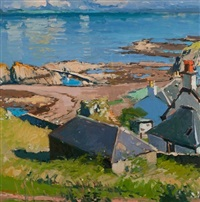calm morning, dunure by douglas lennox