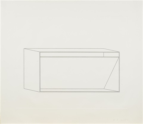 untitled, pl. 4 (from sixteen etchings in black) by donald judd