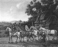 racehorses at the saddle inn by james freeman