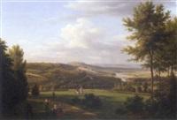 vue du petit bellevue de st. cloud, nr. vallérienne by jean baptiste gabriel langlace