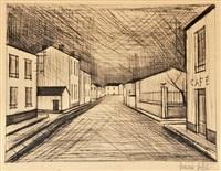 etching la rue by bernard buffet
