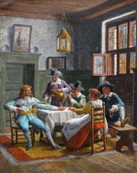 tavern scene by wilhelm giessel