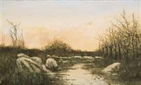 atardecer con río by manuel ramos artal