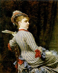 portrait of an elegant woman by pierre paul léon glaize