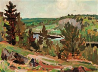 summer landscape by patrick george cowley-brown