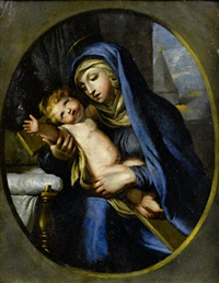 the madonna and child by nicolas mignard