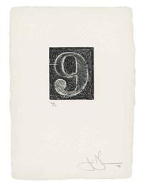 0-9 (a set of ten numerals) (2 works) by jasper johns