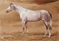 cheval au pré by christian de la verteville