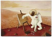 space-ape on mars, self-portrait by sean landers