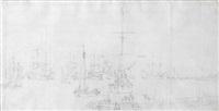 Dutch ships off the coast