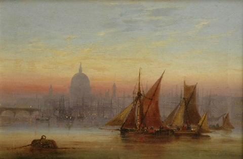 the pool of london with st pauls by charles john de lacy