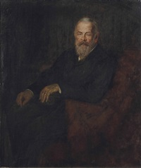 portrait of luitpold price regent of bavaria, three-quarters length by walter firle