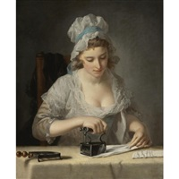 the laundry maid by henry robert morland