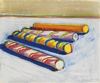 candy canes by wayne thiebaud