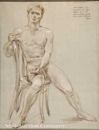 seated male nude by paul cadmus