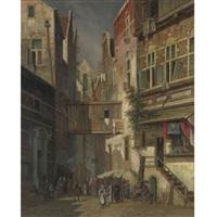 jewish quarter, amsterdam by simon van der ley