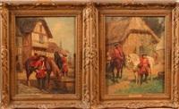 la halte de cavaliers au xviiie (pair) by raymond desvarreux-larpenteur