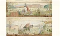 projet de décor pour la chapelle du château de bagnols (+ another; pair) by alexandre séon
