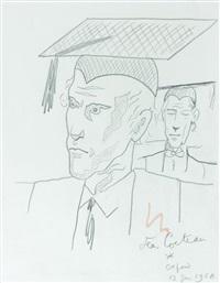 autoportrait en docteur honoris causa by jean cocteau