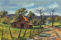 barn in a country landscape by ben abril