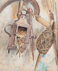 le nid de mésange dans la cabane de jardin by edouard paul merite