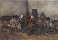 bauern und bäuerinnen bei der arbeit by carl rudolph huber
