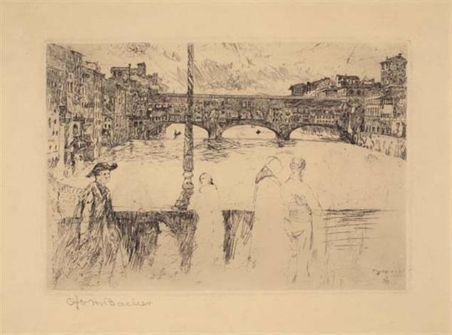 ponte vecchio by otto henry bacher
