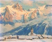 soir d'hiver sur la meije by charles henry contencin