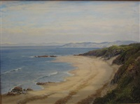 morning on arran sands by george melvin rennie