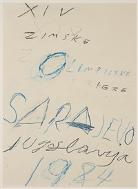 untitled (from art and sports) by cy twombly