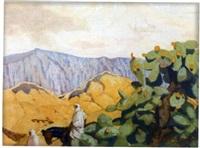 cavalier dans les gorges d'el kantara by francois marie léon de marliave