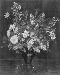 still life with flowers by adolf klundt