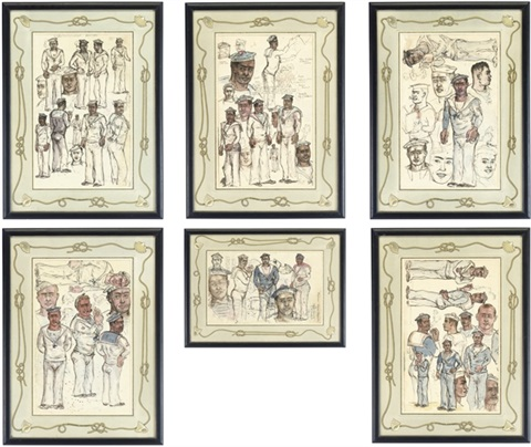 story of the maritime boulevard set of 6 by stephen tennant
