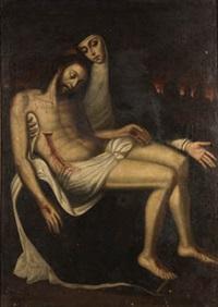 cristo en los brazos de maria by spanish school-toledo (17)