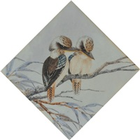 two kookaburras by neville william cayley