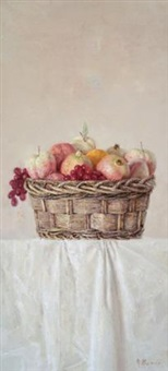 蓝果 (basket and fruit) by chang lei
