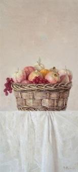 蓝果 (basket and fruit) by chang lei