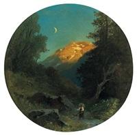 landschaft im mondschein by giovanni (johann) varone