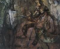 le peintre et le critique by alex wauters