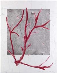 o.t. (rote verzweigung) by mimmo paladino
