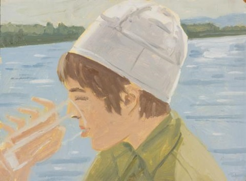 vincent drinking study ii by alex katz