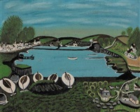 boats at union hall, county cork by seán ó séadhacháin
