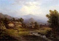 partie aus dem hirschbergtal (riesengebirge) by johann august