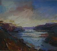 evening harbour by david atkins