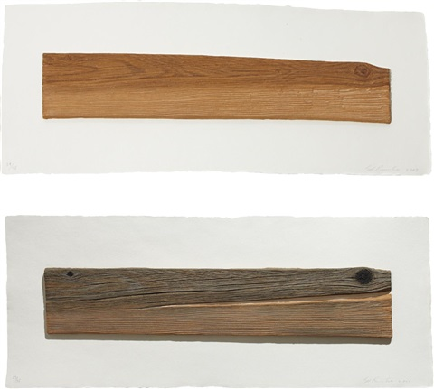 new wood old wood set of 2 by ed ruscha