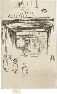 drury lane (from twenty-six etchings) by james abbott mcneill whistler