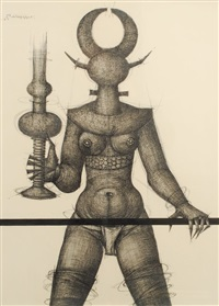 personnage feminin by jef van tuerenhout
