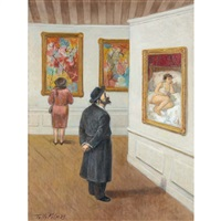 beyond dreams (jewish rabbi in a gallery) by tully filmus